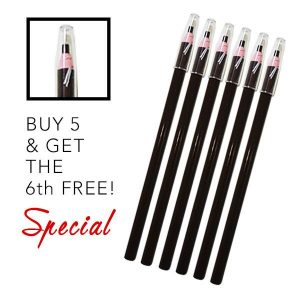 5 BLACK Skin-marker pencils + 1 FREE - Organic Permanent